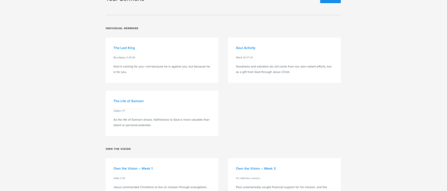 Getting Started: Sermonary Dashboard Overview