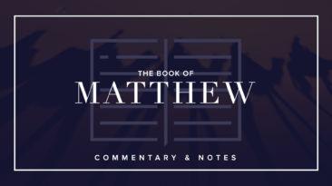 Bible Book Commentary – Matthew