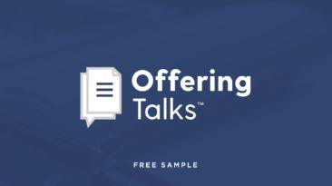 Offering Talks – Free Samples