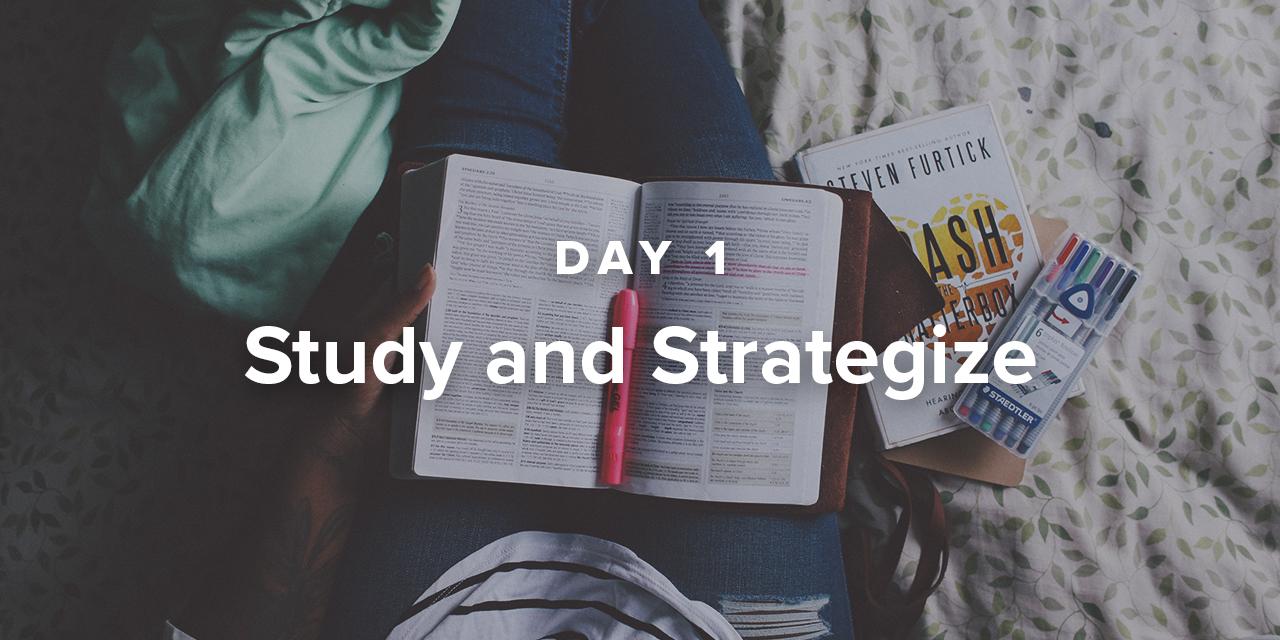 Sermon Writing Plan Day 1